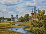 "Tapestry ""White and red Church"" (70х55)"