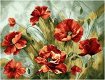 "Tapestry ""Watercolor poppies"" (70x50)"
