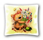 "Pillow cover ""Minions Bear with flowers"" (45x45)"
