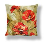 "Pillowcase ""Watercolor poppies"" (45x45)"
