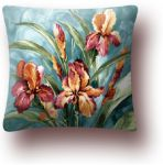 "Pillowcase ""Watercolor iris"" (45x45)"